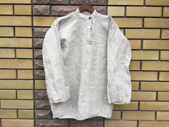 Homespun Hemp Shirt Peasant Shirt Ukrainian Men's