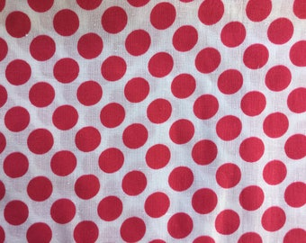 Vintage Polka Dot Cotton Fabric from Soviet Union.