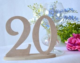 Numéros de table ensemble de numéros de Table en bois décoration de mariage 1-20 mariage table numéros numéros numéros de table rustique de Table décoration mariage en bois