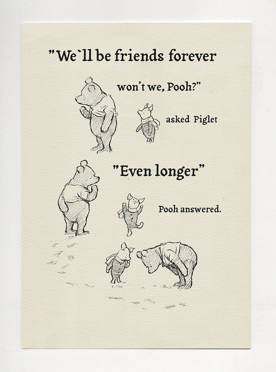Będziesz Być Przyjaciele Na Zawsze Nie Możemy Puchatek Etsy