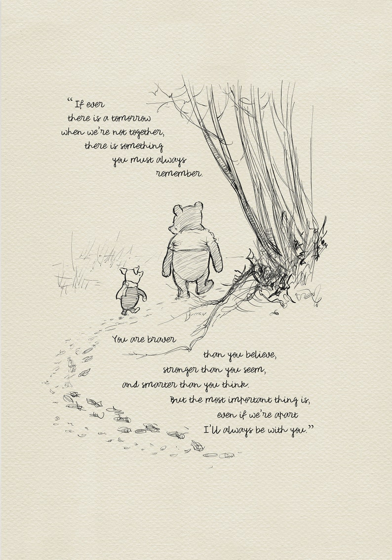 You are braver than you believe  Winnie the Pooh Quotes  image 0