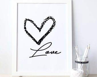 Love wall art, Love Wall Decor, Love poster, Heart poster, Love Printable, Love Design, Valentine Gift, Gift For Her, Quote Poster 0070