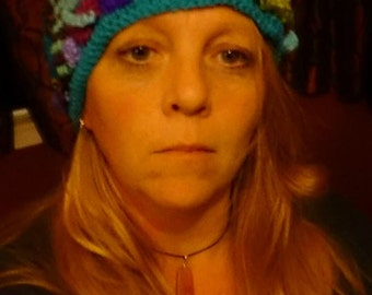 Freeform crochet hat - made to order