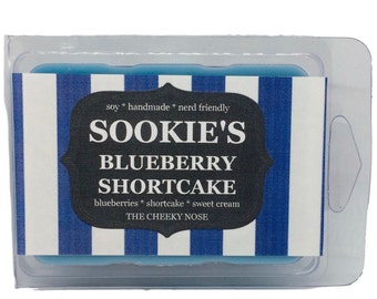 Sookies Blueberry Shortcake Wax Melts - Blueberry Wax Melts - Scented Soy Melts - The Cheeky Nose - Gift Under 5 - Stocking Stuffer - Vegan