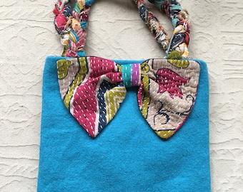 Hand made wool bag