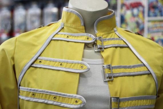 freddie mercury jacket queen cosplay yellow jacket custom etsy etsy