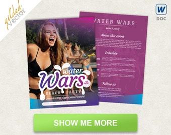concert flyer design party flyer design letter size flyer etsy