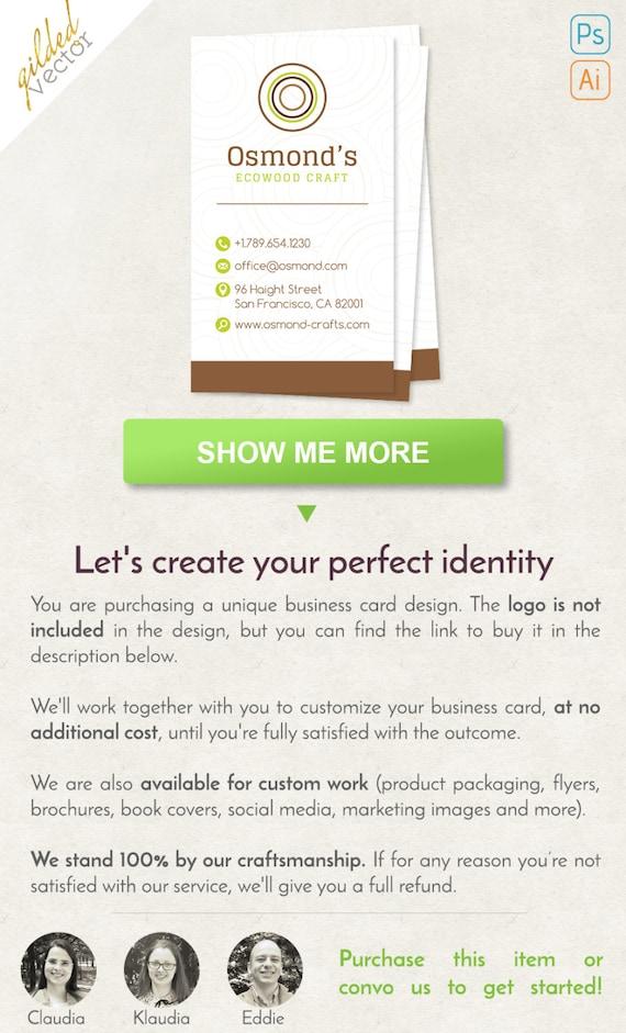 Mobilier Business Card Carte De Visite Eco Modele Numerique