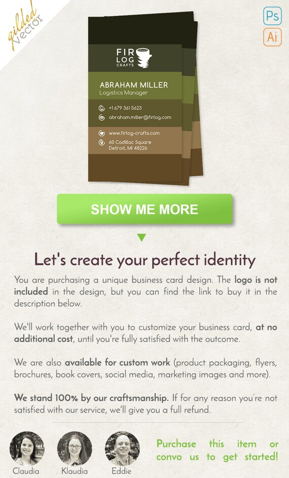 Woodworks Business Card Nature Business Card Digital