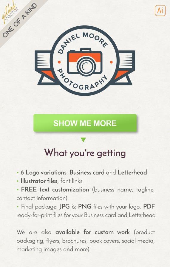 Photography Logo Design Retro Logo Design Photographer