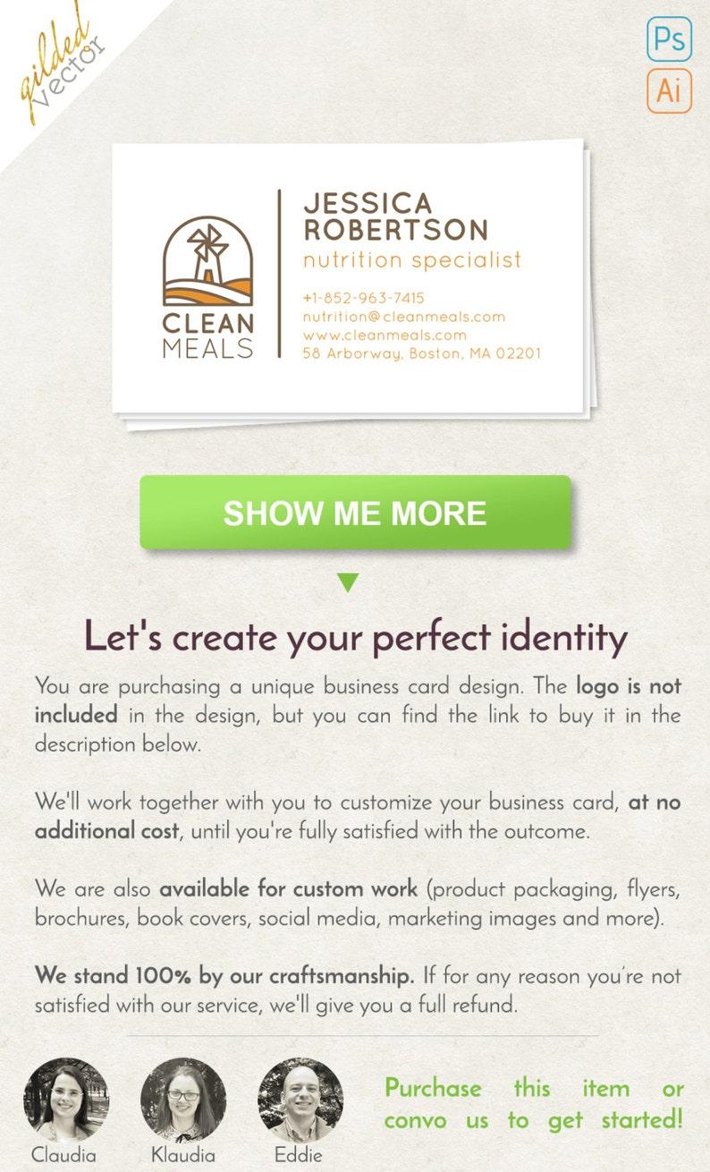 Bauernhof Visitenkarte Visitenkarte Natur Digitale Vorlage Drucken Bereit Ein Doppelseitig Freie Anpassung Individuelles Design Marke Paket