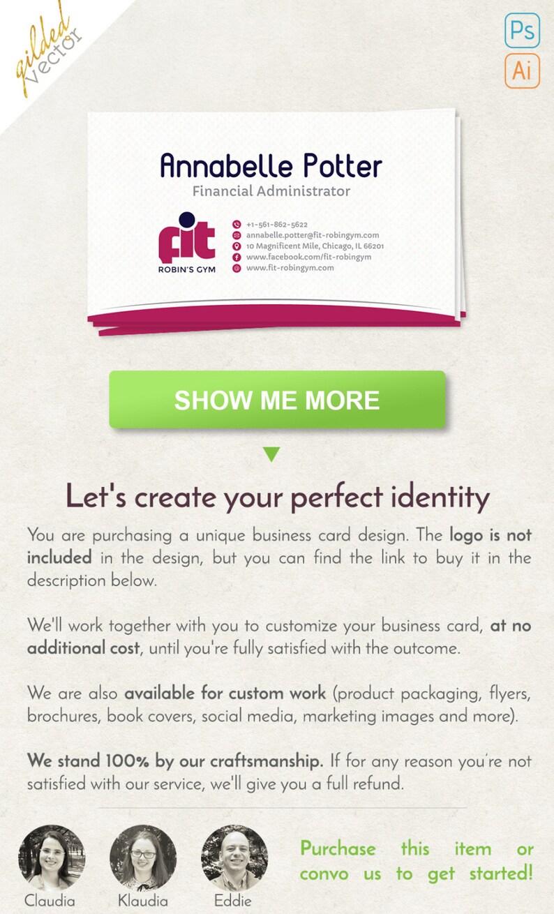 Fitness Business Card Carte De Visite Simple Modele