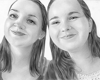 Custom Drawing, Custom Sketch, Custom Portrait, Custom Pencil Portrait, Pencil Sketch, Personalized Hand Drawing, Custom Digital Portrait
