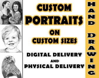 Custom Portrait, Custom Sketch, Custom Digital Portrait, Custom Hand Drawn Portrait, Commission Portrait, Personalized Portrait, Custom Art