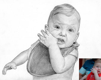 Custom Portrait, Custom Sketch, Custom Pencil Portrait, Custom Hand Drawn Portrait, Commission Portrait, Personalized Portrait, Custom Art