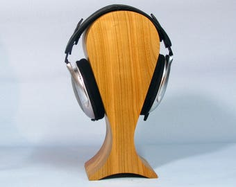 Stand for headphones from wood cherry extra large size