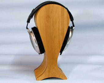 Stand for headphones from wood cherry and pear extra large size