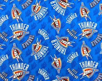1dd3bc1f8aa New NBA Oklahoma City THUNDER Allover Print 100% cotton fabric, you choose  size, sports fan, decorative, gift, man cave, official fabric