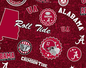 NCAA OKLAHOMA SOONERS Watermark Print 100/% cotton fabric material you choose length licensed Quilts