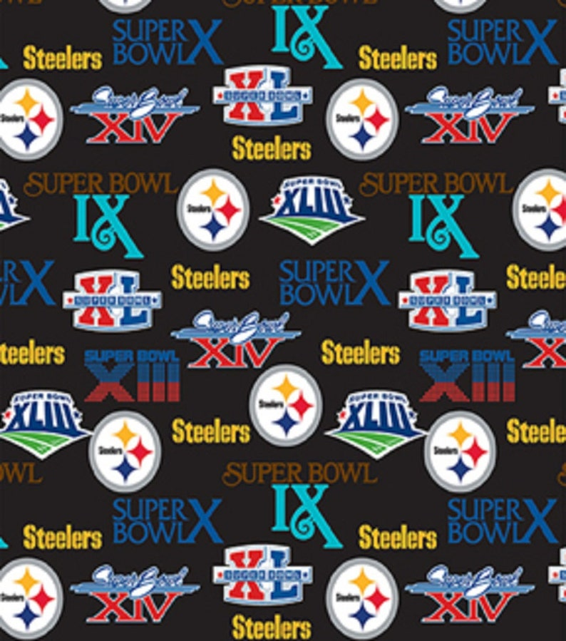 ad84ba260 NFL Pittsburgh STEELERS Superbowl CHAMPIONSHIP Legacy Retro Print Football  100% cotton fabric licensed material Crafts