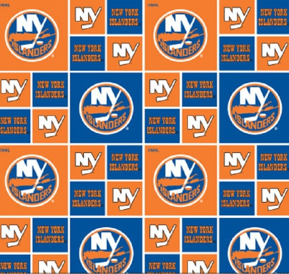 NEW YORK ISLANDERS NHL HOCKEY 100/% COTTON FABRIC MATERIAL CRAFT BY THE 1//2 YARD