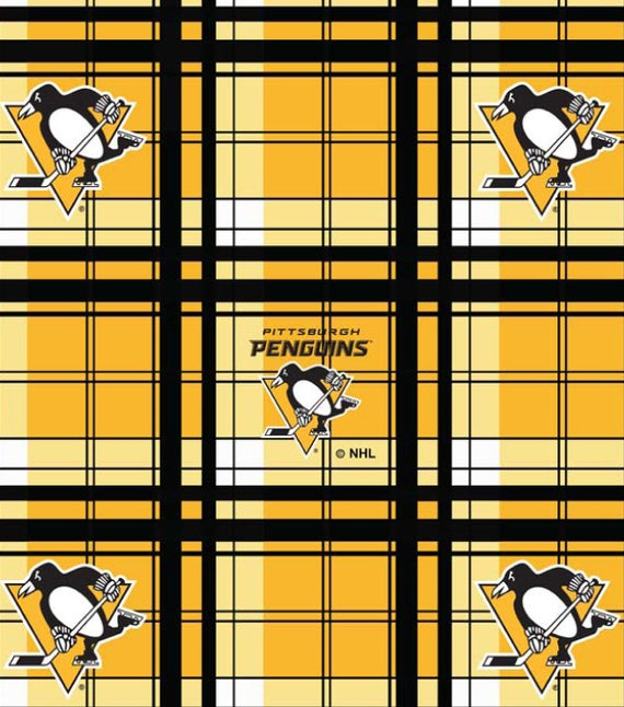 NHL HOCKEY PITTSBURGH PENGUINS CAMO FLEECE FABRIC BLANKET MATERIAL BY 1//2 YARD