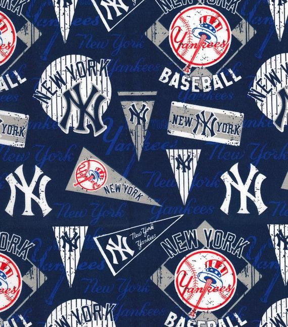 Mlb New York Yankees Vintage Retro Print Baseball 100