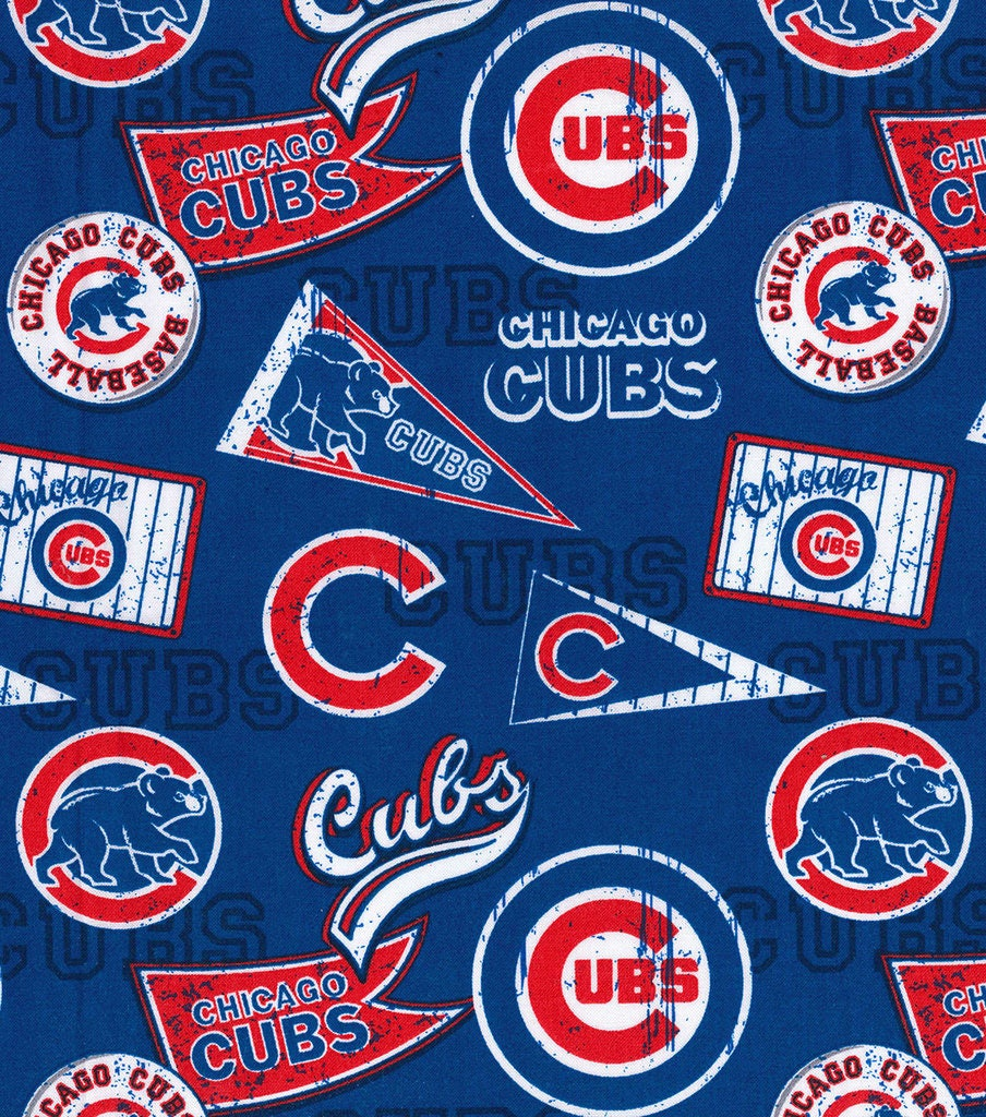 Mlb Chicago Cubs Vintage Retro Print Baseball 100 Cotton
