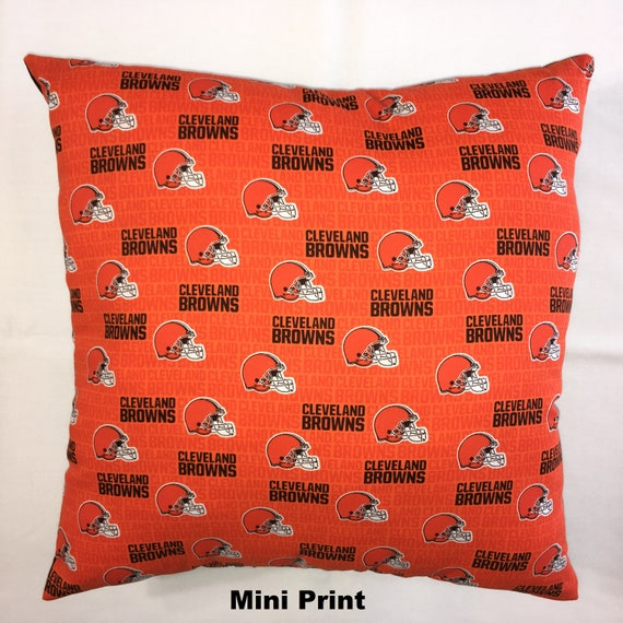 Nfl Cleveland Browns Football Throw Pillow Sports Fan Etsy