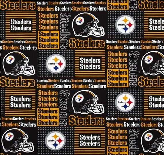 NFL New PITTSBURGH STEELERS Patchwork Football 100% cotton  40c9a30b7
