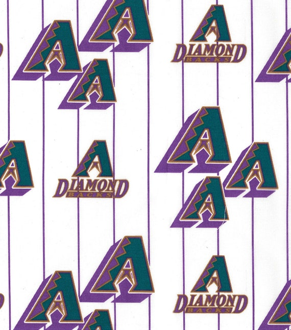 MLB 100/% COTTON 1 YARD  PIECE BRAND NEW  DESIGN ARIZONA DIAMONDBACKS