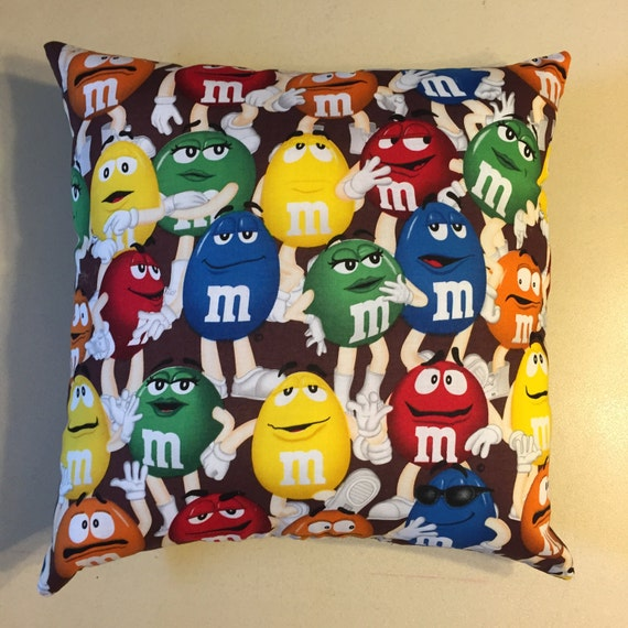 M&M's mars candy complete throw pillow