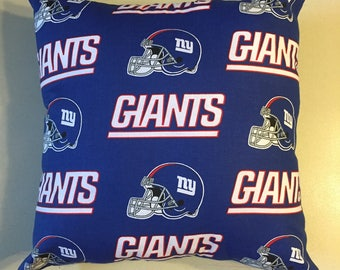 NFL New York Giants Football Throw pillow, sports fan, decorative pillow, gift, pillow cover, man cave, offical fabric
