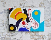 LOVE OVERCOMES FEAR - A large Abstract Painting in Acrylic by Adam Tallamy