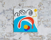 JOY DIVER - An abstract painting in acrylic by Adam Tallamy