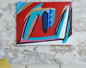 SAFE & LOVED by WOMEN - A large abstract painting by Adam Tallamy