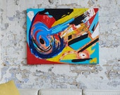 CREATION - A large abstract acrylic painting by Adam Tallamy