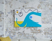 HAPPY ELEPHANT - A large Abstract Painting in Acrylic by Adam Tallamy