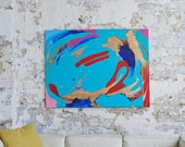 LOVE AND FEAR - A large Abstract spray paint and acrylic painting by Adam Tallamy