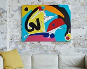 POWER - A large Abstract Painting in Acrylic by Adam Tallamy