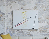 PARIS - A Large Abstract Painting in Acrylic by Adam Tallamy and Vineet Bhatia