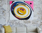 SMILEY FACE - A Large Abstract Painting In Acrylic By Adam Tallamy