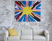 UNION JACK - A large Abstract Painting In Acrylic By Adam Tallamy