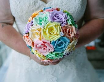 Paper rose bridal bouquet. Wedding bouquet. Bridal Posy