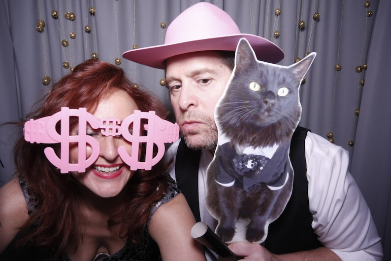 Pet Picture on Stick Wedding Photo Wedding Party Photo Pet Cat Photo Fun Photo -Picture on Stick Photo Booth Prop Wedding Favor