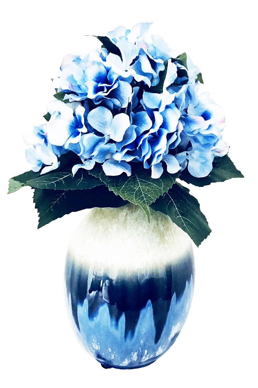 Blue hydrangeas silk floral arrangement handmade silk flowers gallery photo gallery photo mightylinksfo