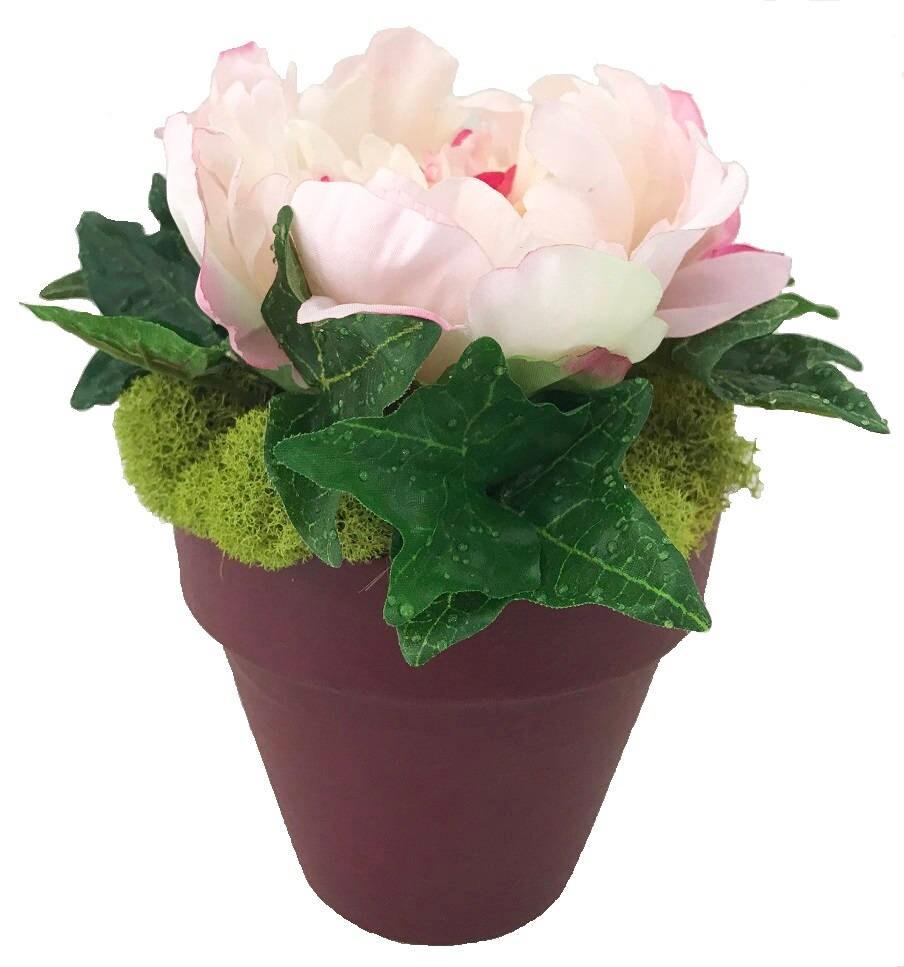 Peony Silk Floral Arrangement Artificial Flower Arrangement Faux