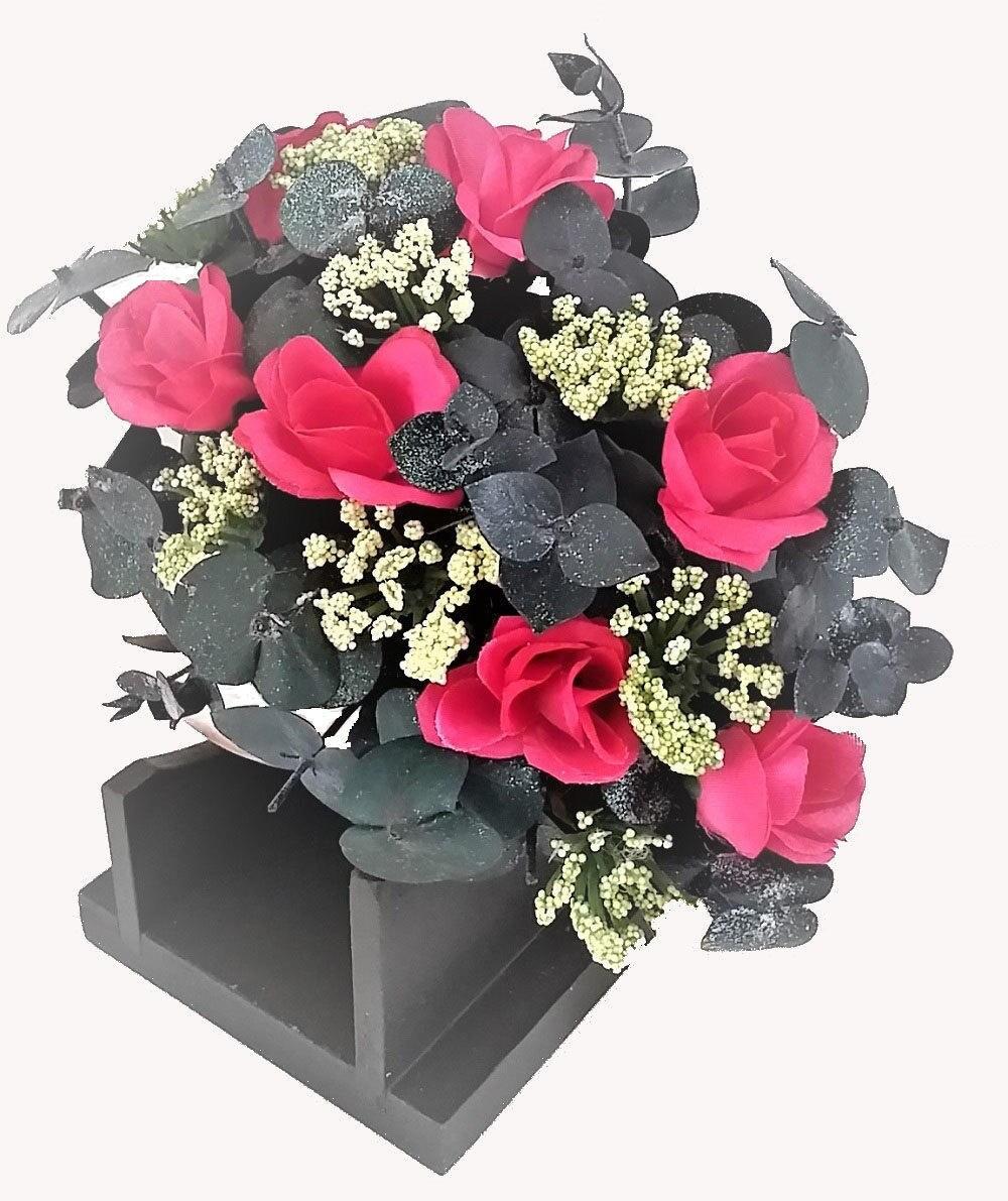 Pink Rose Seashell Artificial Flower Arrangement Silk Flowers