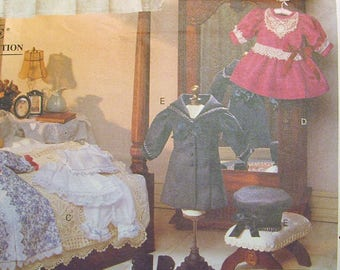 Vogue Craft 8241 Victorian Doll Clothes Sewing Pattern Linda Carr UNCUT