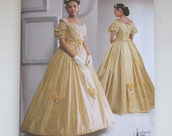 Simplicity 2881 Civil War Antebellum GOWN Historical Costume Sewing Pattern  UNCUT Size 16 to 24 241b96289538